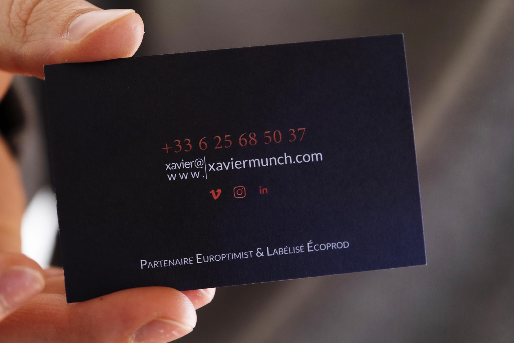 Business card close up carte de visite